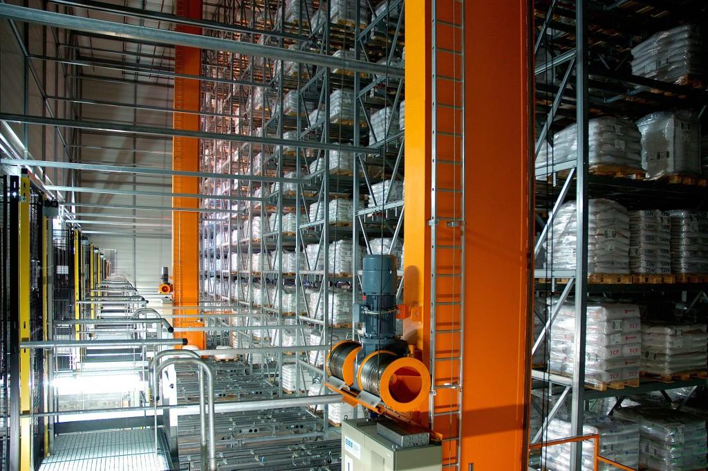 Высотный склад для паллет с химической продукцией Fa. CFB (Nähe Frankfurt am Main) -